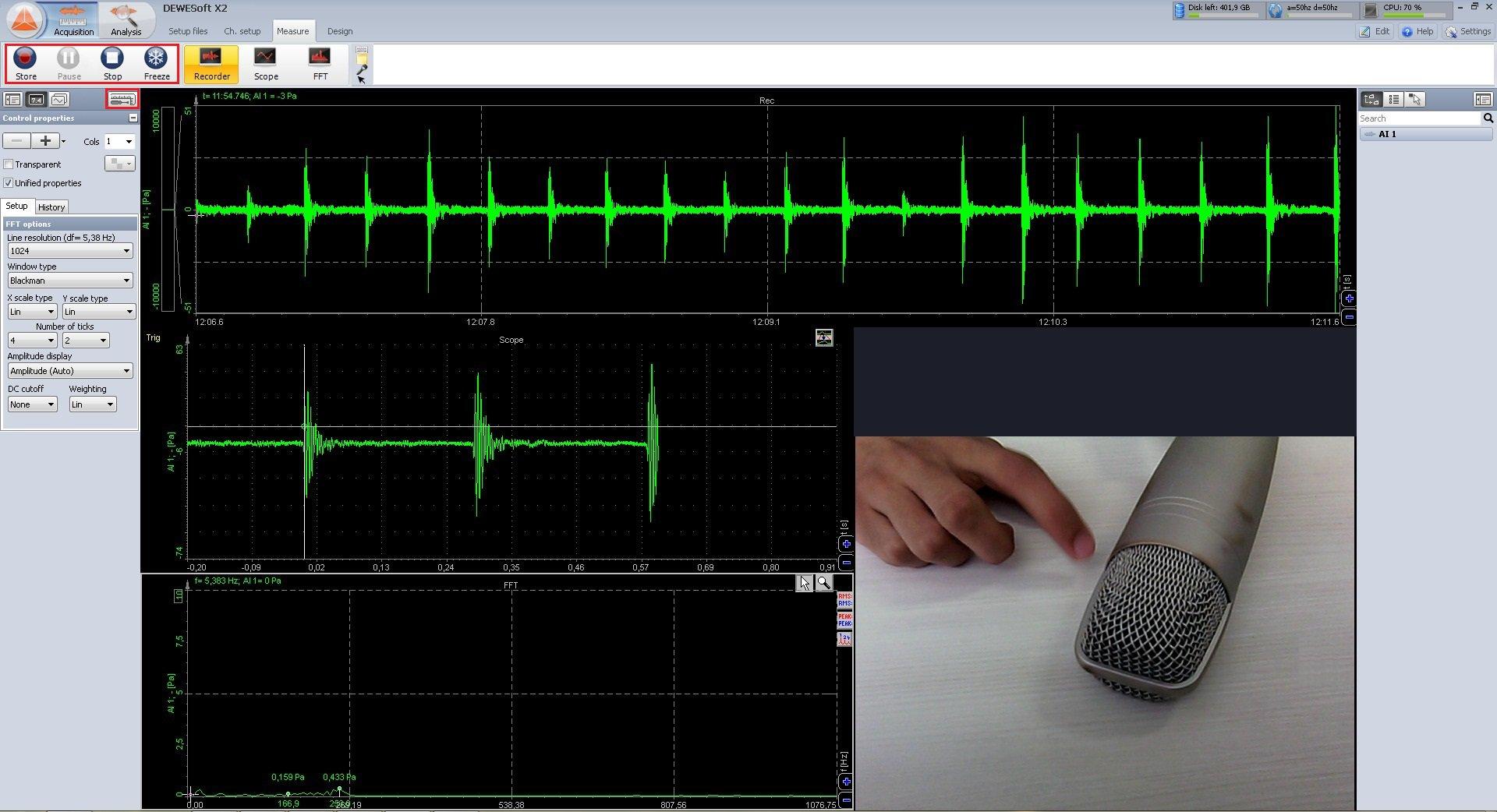Dewesoft X screenshot