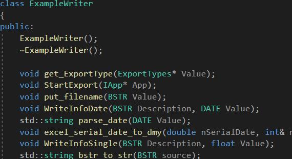 C++ Export Plugin
