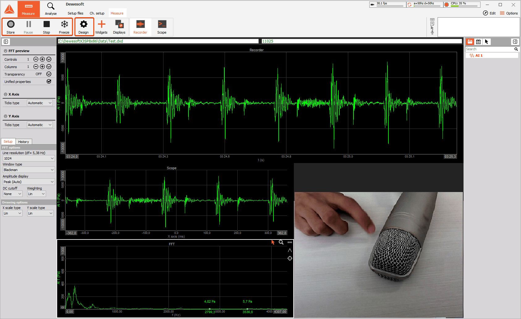 Simple Measurement Using Sound Card and Web Camera