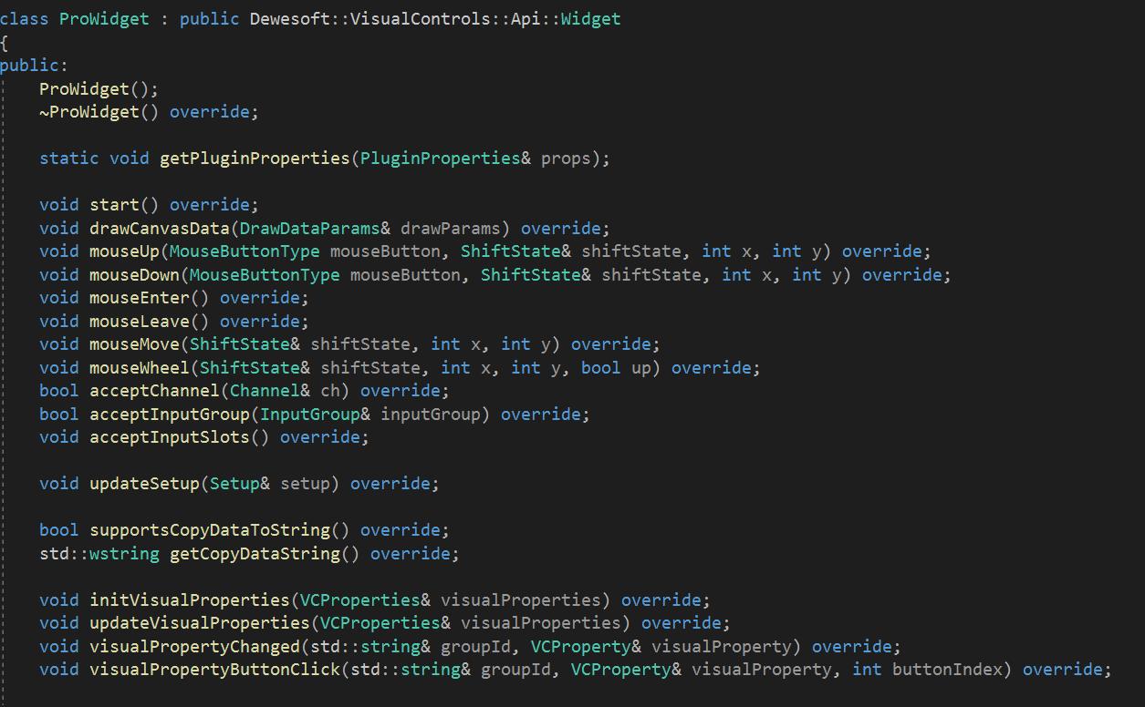 C++ Widget Plugin